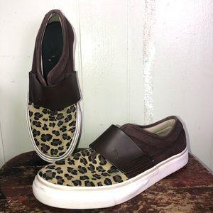 Puma Cat Leopard print slip flats on shoes sz 9